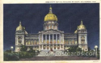 cap001025 - Des Moines, Iowa, Ia, USA State Capitol, Capitols Postcard Post Card