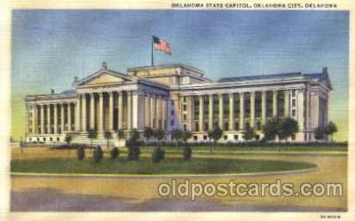cap001031 - Oklahoma State Capitol, Ok, USA Capitols Postcard Post Card