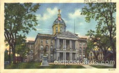 cap001032 - Concord State Capitol, N.H., New Hampshire, USA Capitols Postcard Post Card