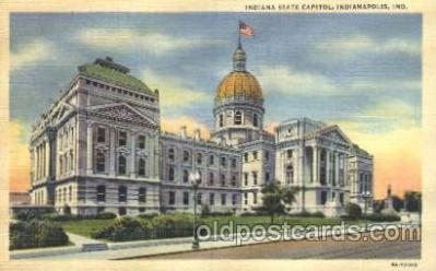 cap001034 - Indianapolis, In, USA State Capitol, Capitols Postcard Post Card