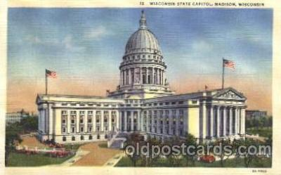 cap001038 - Madison,  Wisconsin, Wi, USA State Capitol, Capitols Postcard Post Card