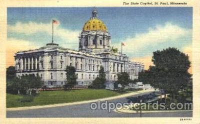 cap001041 - St. Paul, Minnesota, Mn, USA State Capitol, Capitols Postcard Post Card