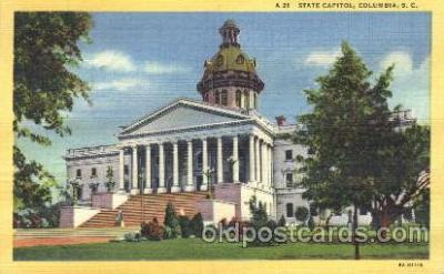 cap001046 - Columbia, South Carolina, Sc, USA State Capitol, Capitols Postcard Post Card
