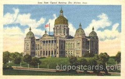 cap001050 - Des Moines, Iowa, Ia, USA State Capitol, Capitols Postcard Post Card