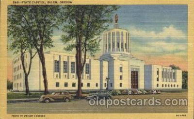 cap001070 - Salem, Oregon, Or, USA State Capitol, Capitols Postcard Post Card