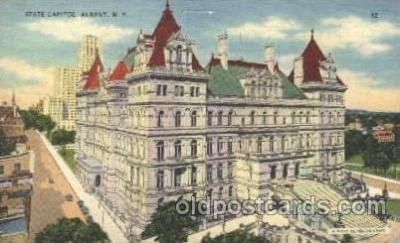 cap001075 - Albany, New York, N.Y., USA State Capitol, Capitols Postcard Post Card