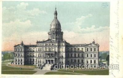 cap001080 - Lansing, Michigan, USA State Capitol, Capitols Postcard Post Card