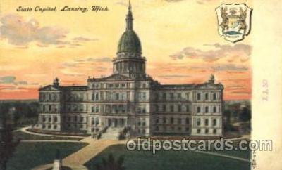 cap001093 - Lansing, Michigan, Mi, USA State Capitol, Capitols Postcard Post Card