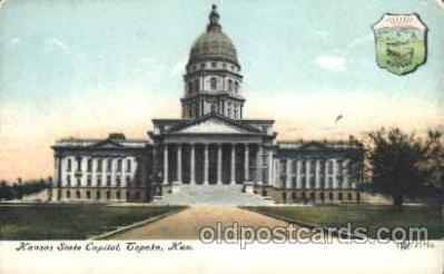 cap001096 - Copeka, Kansas, Ks, USA State Capitol, Capitols Postcard Post Card