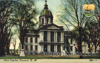 cap001098 - NH, New Hamshire, USA State Capitol, Capitols Postcard Post Card