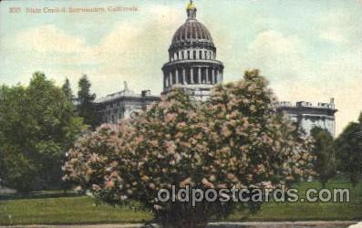 cap001107 - Sacramento, California, Ca, USA State Capitol, Capitols Postcard Post Card