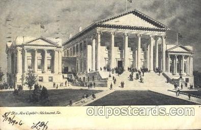 cap001110 - Richmond, Va., Verginia, USA State Capitol, Capitols Postcard Post Card