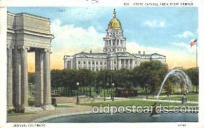cap001111 - Denver, Colorado, CO, USA State Capitol, Capitols Postcard Post Card