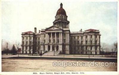 cap001119 - Denver, CO, Colorado, USA  State Capitol, Capitols Postcard Post Card