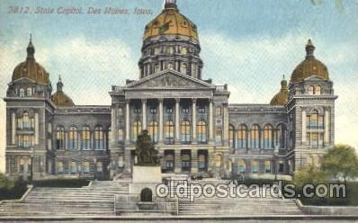 cap001124 - Des Moines, Iowa, Ia, USA State Capitol, Capitols Postcard Post Card