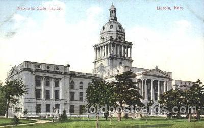 cap001128 - Lincoln, Nebraska, Ne, USA State Capitol, Capitols Postcard Post Card