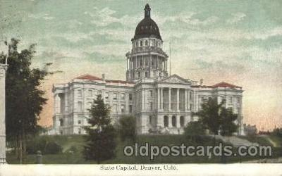 cap001129 - Denver, CO, Colorado, USA State Capitol, Capitols Postcard Post Card