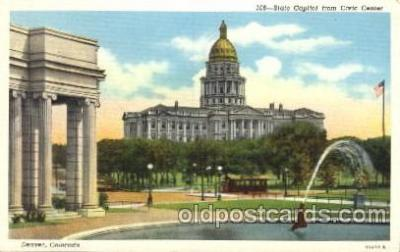 cap001131 - Denver, CO, Colorado, USA State Capitol, Capitols Postcard Post Card