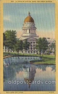cap001134 - Utah, Ut, USA State Capitol, Capitols Postcard Post Card