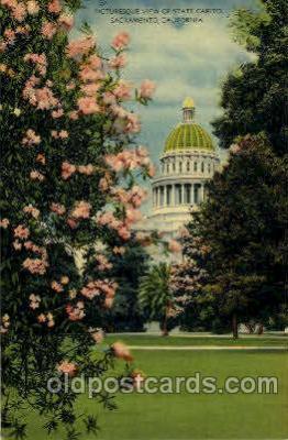 cap001145 - Sacramento, Cal. California, USA United States State Capital Building Postcard Post Card