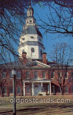 cap001147 - Annapolis, Maryland,USA United States State Capital Building Postcard Post Card