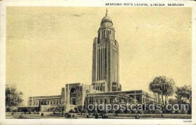 cap001153 - Nabraka State Capital, Lincoln, Nebraska, USA United States State Capital Building Postcard Post Card