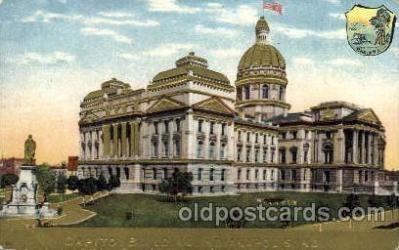 cap001159 - Indiana, USA United States State Capital Building Postcard Post Card