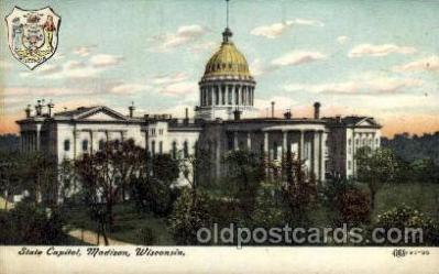 cap001163 - Madison, Wisconsin, USA United States State Capital Building Postcard Post Card