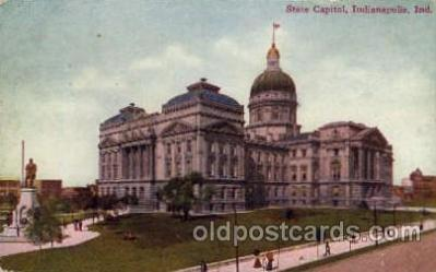 cap001164 - Indiannapolis, Indiana, USA United States State Capital Building Postcard Post Card