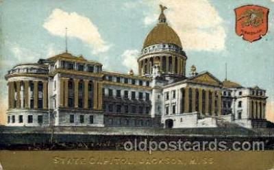 cap001166 - Jackson, Mississippi, USA United States State Capital Building Postcard Post Card