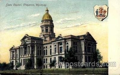 cap001168 - Cheyenne, Wyoming, USA United States State Capital Building Postcard Post Card