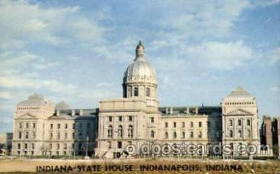 cap001189 - Indiana state house, Indianapolis, Indiana, USA United States State Capital Building Postcard Post Card