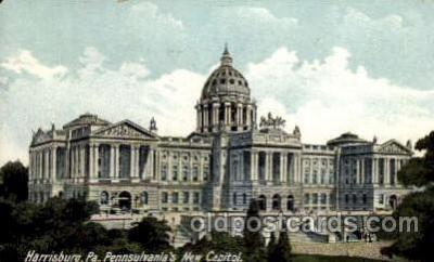 cap001213 - Harissburg, PA, Pennylvania, USA United States State Capital Building Postcard Post Card