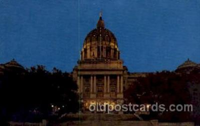 cap001216 - Harrisburg, PA, Pennsylvania, USA United States State Capital Building Postcard Post Card