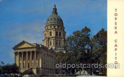 cap001218 - Kansas state captital, Topeka, Kansan, USA United States State Capital Building Postcard Post Card