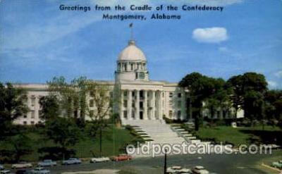 cap001220 - Montgomery, Ala.,  Alabama, USA United States State Capital Building Postcard Post Card