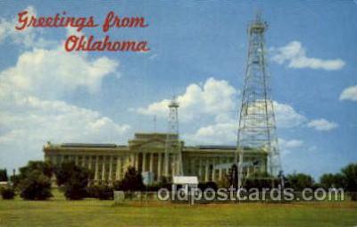 cap001222 - Oklahoma, USA United States State Capital Building Postcard Post Card