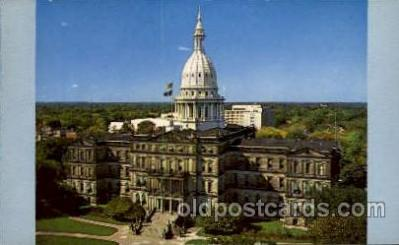 cap001224 - Lansing, Mich., Michigan, USA United States State Capital Building Postcard Post Card