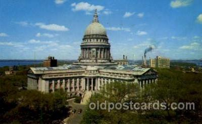 cap001227 - Madison, Wisconsin, USA United States State Capital Building Postcard Post Card