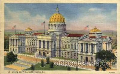 cap001228 - Harrisburg, PA, Pennsylvania, USA United States State Capital Building Postcard Post Card