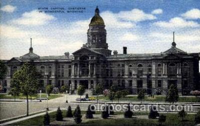 cap001235 - Wyoming State Capital,USA United States State Capital Building Postcard Post Card