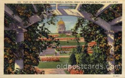 cap001238 - Salt lake City, Utah, USA United States State Capital Building Postcard Post Card