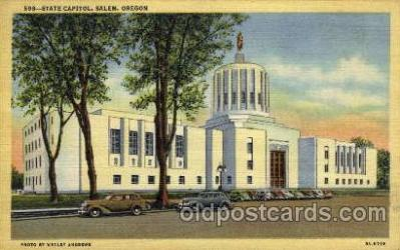 cap001239 - Salem, Oregon, USA United States State Capital Building Postcard Post Card