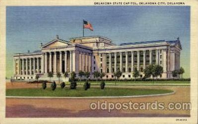 cap001241 - Oklahoma, USA United States State Capital Building Postcard Post Card