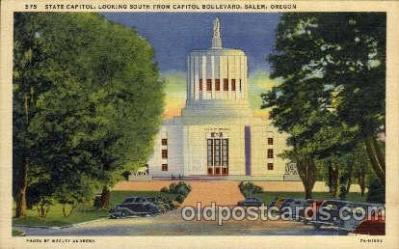 cap001245 - Salem, Oregon,USA United States State Capital Building Postcard Post Card