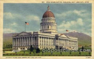 cap001252 - Salt Lake, Utha, USA United States State Capital Building Postcard Post Card