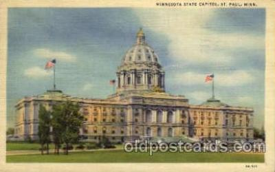 cap001255 - ST. Paul, Minnesota, USA United States State Capital Building Postcard Post Card