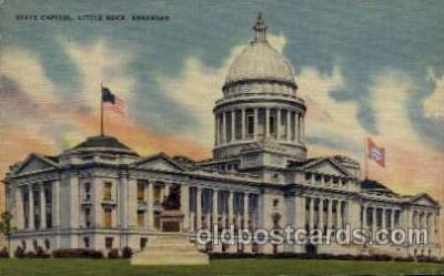 cap001261 - Little Rock, Arkansas, USA United States State Capital Building Postcard Post Card