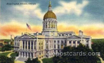 cap001262 - Atlanta, GA, Georgia, USA United States State Capital Building Postcard Post Card