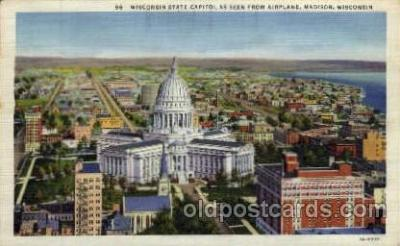 cap001263 - Madison, Wisconsin, USA United States State Capital Building Postcard Post Card